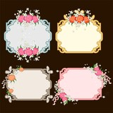 set frames with flowers
