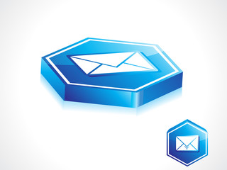 abstract blue mail button