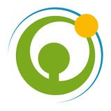 Fototapety Logo Mensch und Natur in Bewegung
