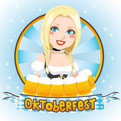 Oktoberfest Blond Cutie