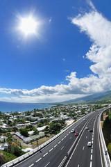 Côte ouest de La Réunion.