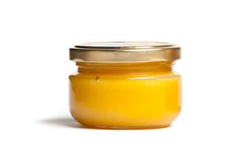Jar of honey.