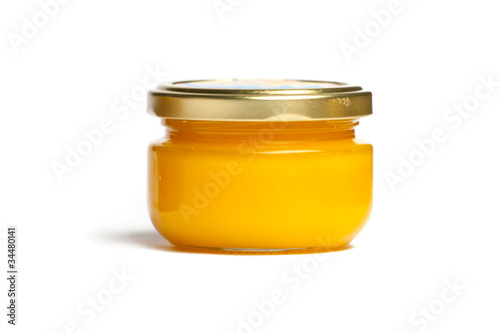 Jar of honey.