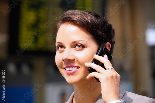 Business woman with cellphone 4