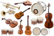 Leinwanddruck Bild - Musical instruments