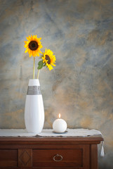 Vase with sunflowers - Vaso con girasoli