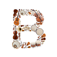 Musical instruments alphabet