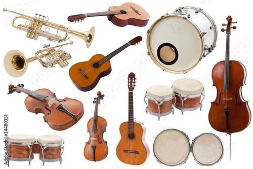 Leinwanddruck Bild Musical instruments