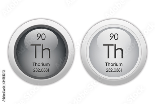 Thorium - two glossy web buttons