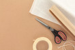 Packaging Materials with Scissors