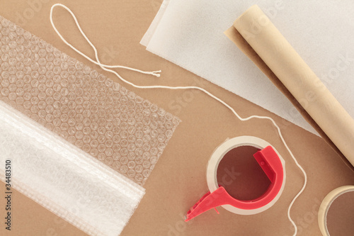 Packaging Materials with String