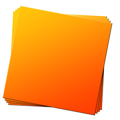 Post it dégradé orange