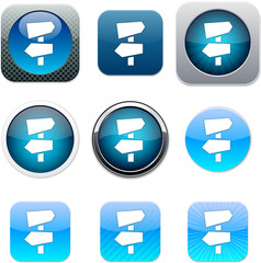 Road arrows blue app icons.