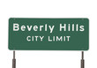 Beverly Hills Limits Sign