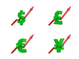 Financial crisis dollars up