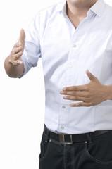 Negocios mano apretón de manos