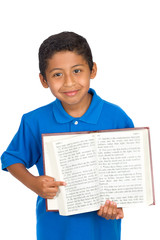 Child Pointing to Verse on the Word of God
