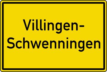 Villingen-Schwenningen Ortstafel Ortseingang Schild
