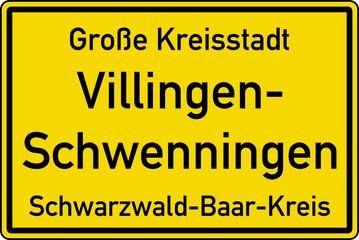 illingen-Schwenningen Ortstafel Ortseingang Schild