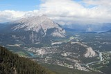 Town of Banff, Canada, high viewpoint from Sulphur Mountain poster