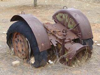 Antique agricultural machine