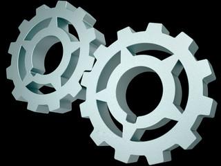 Two steel gears