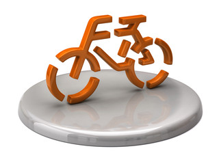 Orange Bicycle icon