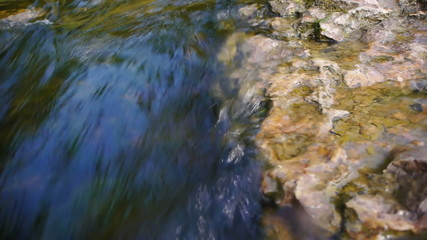 HD - flow of a mountain river_scene1