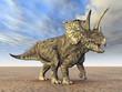 Leinwanddruck Bild - Pentaceratops