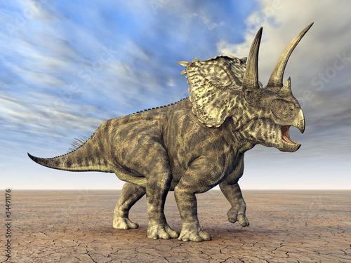 Leinwanddruck Bild Pentaceratops