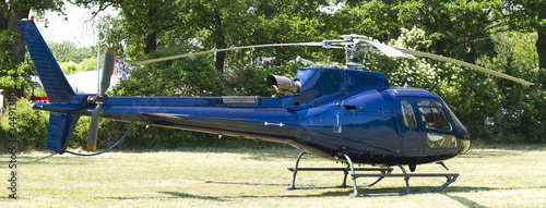 Executive Helicopter Ready For Flight