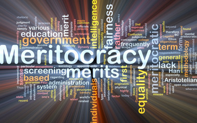 Meritocracy background concept glowing