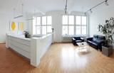 Fototapety Modernes Loft Raum mit Tresen und Sitzecke