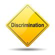 Señal amarilla texto Discrimination