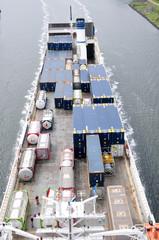 frachtschiff von oben