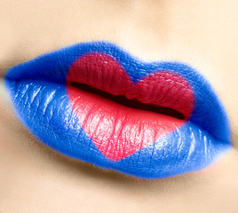 woman lips makeup