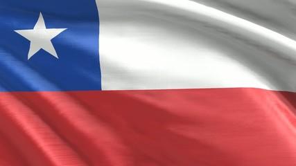 Nahtlos wehende Flagge Chile