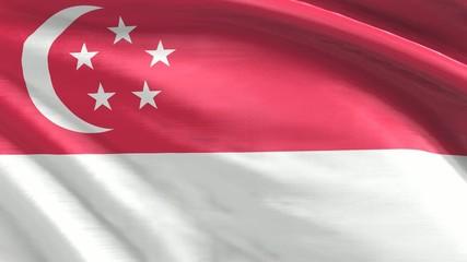 Nahtlos wehende Flagge Singapur