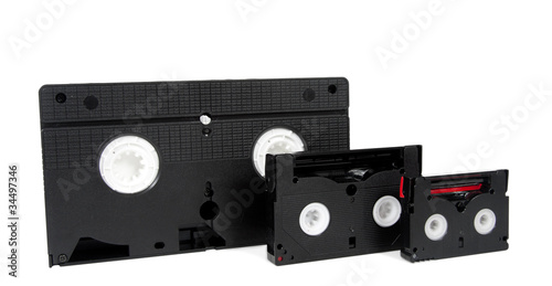 old video cassette tapes vhs hi8 mini dv v8