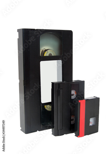 Old video cassette tapes vhs hi8 mini dv