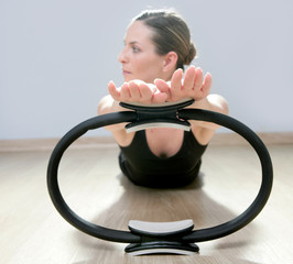 magic pilates ring woman aerobics sport gym