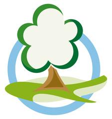 Signet Baum auf Wiese