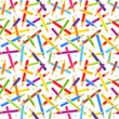 Seamless colored pencils pattern or background