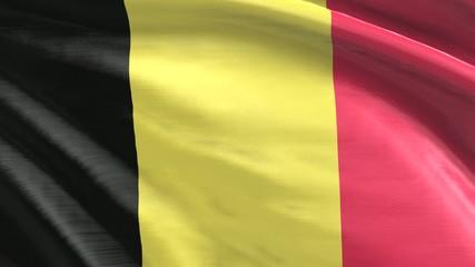 nahtlos wehende Flagge Belgien
