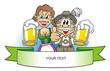 Leinwandbild Motiv Bavaria Beer Party - Your Text