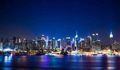 Panoramę Nowego Jorku Manhattan
