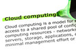 'Cloud computing' highlighted in green