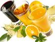 Fruchtsäfte im Glas
