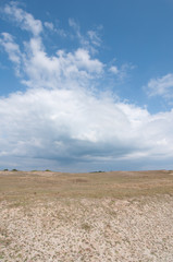 Dunes landscape near Quiberon on Cote Sauvage