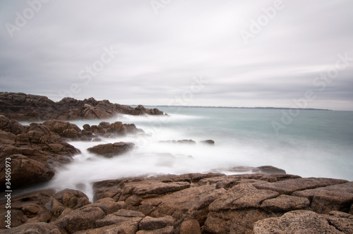Seascape long exposure on Brittany coast